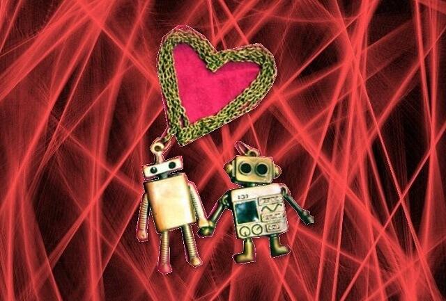 リンクを巡回するクローラー、ロボットのイメージ