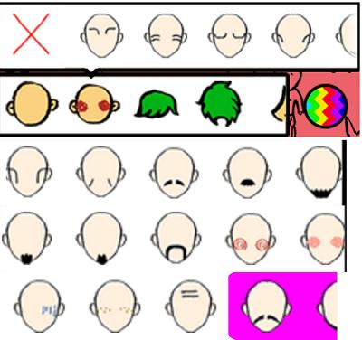 LikeMe:顔のしわ頬骨など装飾