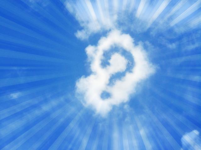 雲の「はてな」に集中線