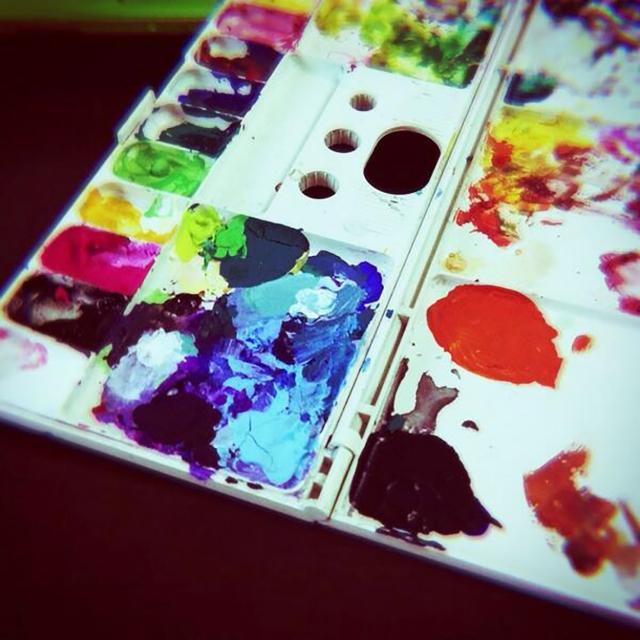 絵の具のパレット