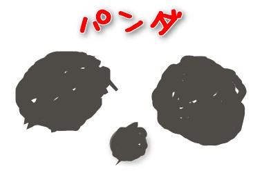 ピンポイントのパンダ