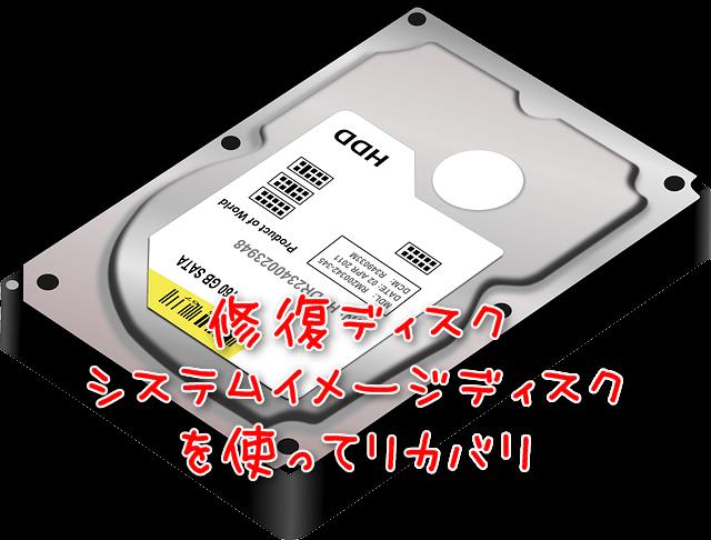 ディスクを使ってHDDをリカバリ