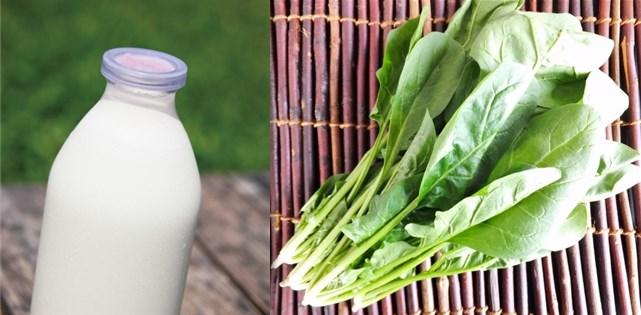 牛乳とほうれん草