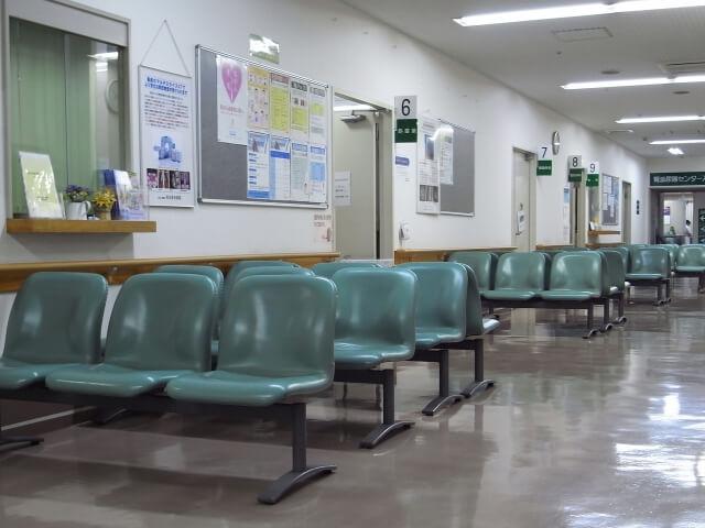救急病院の待合室