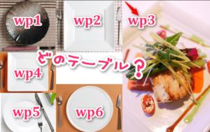 テーブル接頭辞のイメージ画像