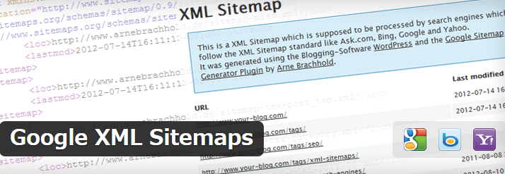 Google XML Sitemaps詳細を表示画面