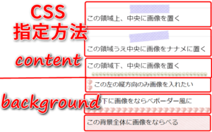 CSSでcontent・backgroundの色んな指定方法