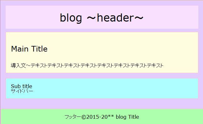 HTMLをブラウザで表示した例