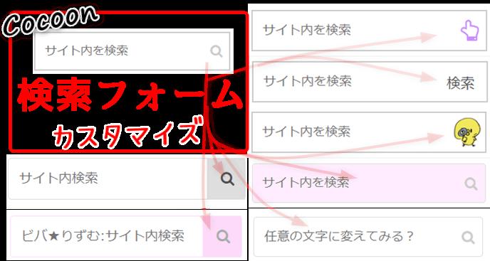 Cocoon検索フォームのカスタマイズ